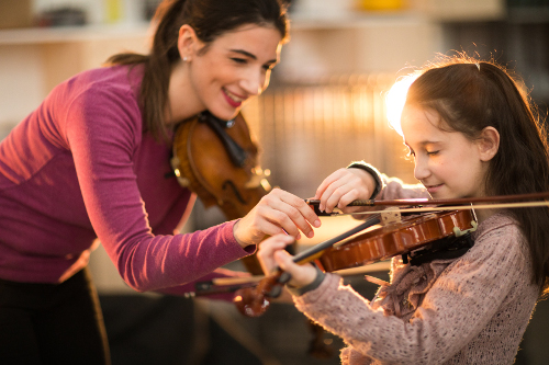 Teaching violin